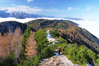 Photo: pogled na prehojen greben