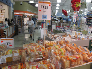 Photo: Oh, lookie!  As soon as I walked in, I saw a huge display that announced that Thomas' brand Bagels are on sale--BOGO!