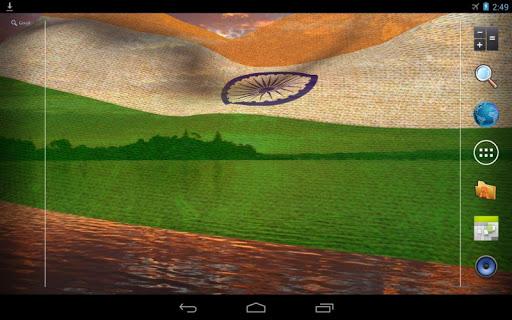 3D India Flag Live Wallpaper Screenshot 9