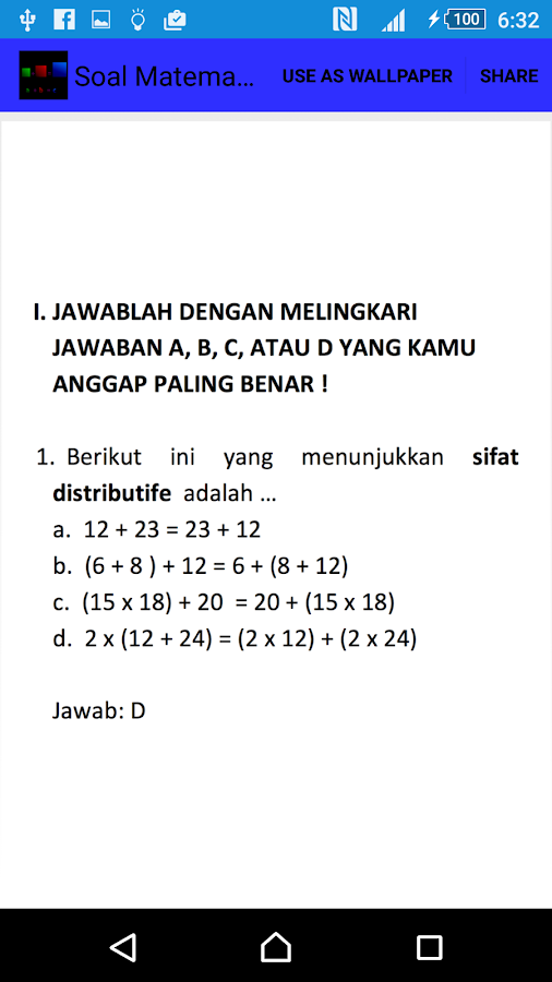 Soal Matematika Kelas 5 Android Apps On Google Play
