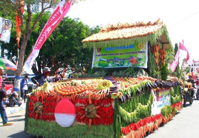 Pawai pembangunan di Ngawi, Satker Sosialisakan program kerja