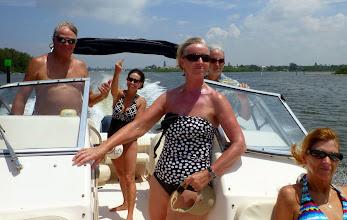 Photo: On Lynn's nice Grady White up at Sarasota