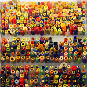 Spools of Rainbow by Alex Santos - Artistic Objects Other Objects ( color, spool, thread, fabric, rainbow )