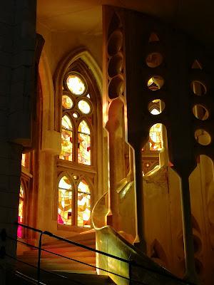 Luci multicolori nella Sagrada di Silvia1990