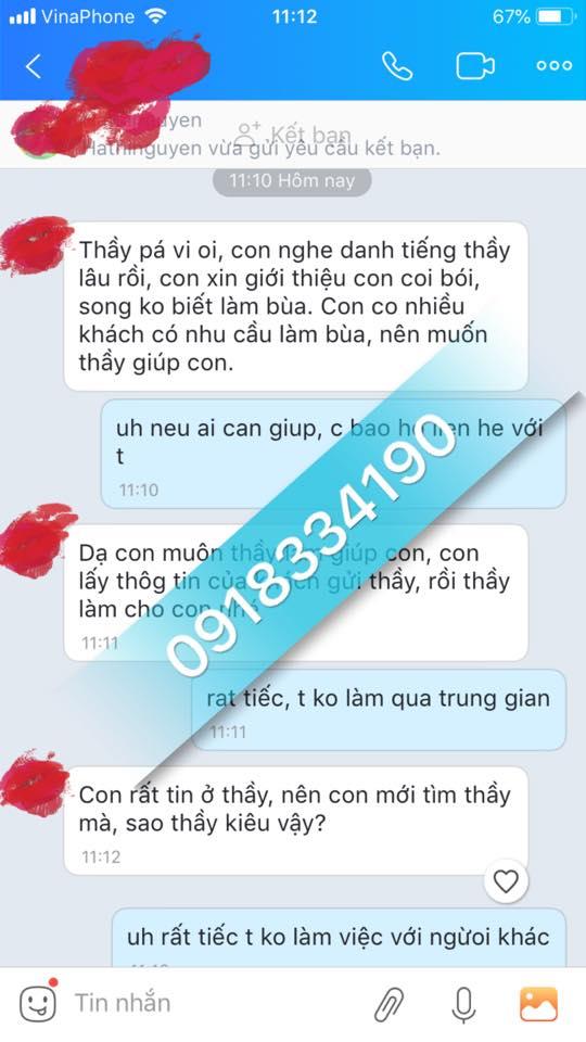 Câu chuyện chân thực của một vị khách khi sử dụng bùa yêu của thầy Pá Vi tại Hà Nội đã đạt kết quả.