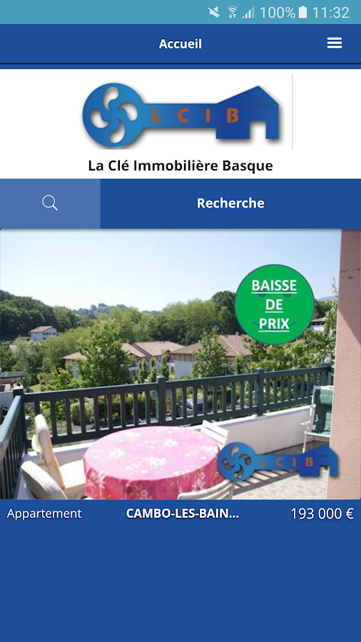 IMMOBILIER COTE ET PAYS BASQUE- screenshot