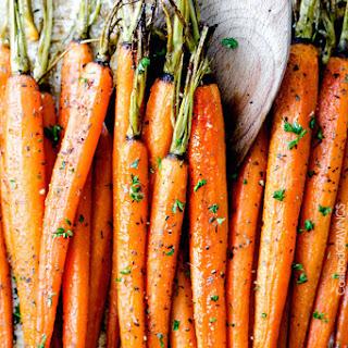 Secret Ingredient Honey Garlic Roasted Carrots
