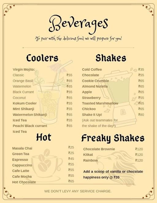 Cubanos menu 1