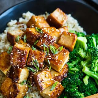 Honey Garlic Tofu.