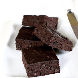 Weight Watchers-Style Gluten Free Chocolate Zucchini Brownies.
