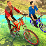 Offroad Bicycle Rider BMX Icon