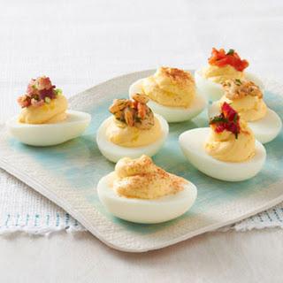 Favorite Topped Deviled Eggs