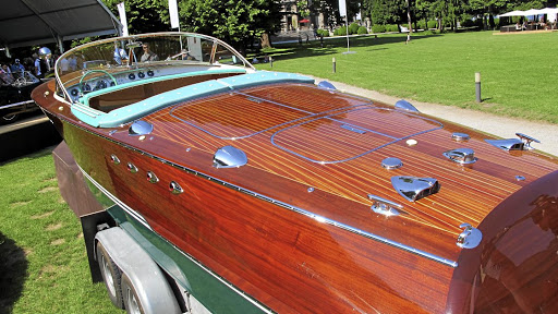 Appropriately for the shores of Lake Como, a stunning Riva motor yacht was also auctioned.    Picture: MARK SMYTH