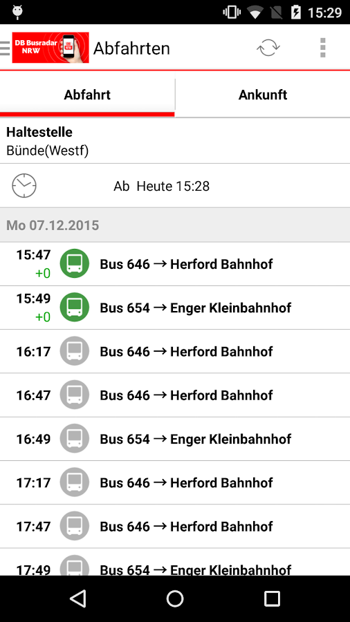 DB Busradar NRW- screenshot