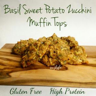 Basil Sweet Potato Zucchini Muffin Tops (High Protein, Gluten Free)