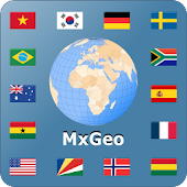 World atlas & world map MxGeo Pro