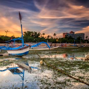 Jukung by Nugroho Kristanto - Transportation Boats ( sunrise, bali, sunset, jukung, indonesia, landscape )