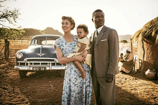 Pioneers: David Oyelowo as Seretse Khama and Rosamund Pike as Ruth Williams in A United Kingdom. Shooting was based in Serowe and Palapye in Botswana — where the actual events took place. Picture: SUPPLIED