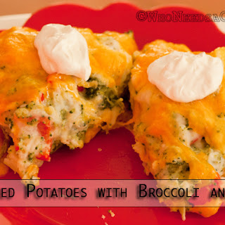 Twice Baked Potatoes with Broccoli and Peppers