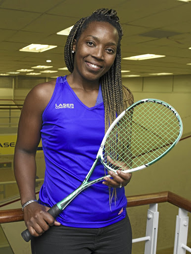 Hard hitter: Siyoli Waters is a standard-bearer for South African squash players. She is ranked No33 in the world. Picture: PETER HEEGER/GALLO IMAGES
