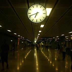 Train Station by Ashley Vanley - Transportation Other ( pwcclocks-dq )