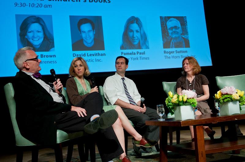 Photo: Roger Sutton, Pamela Paul, David Levithan, Jennifer Brown