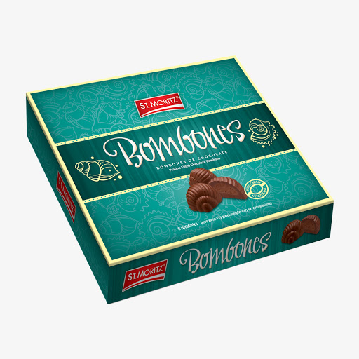 chocolate st moritz bombonera caracoles 110gr