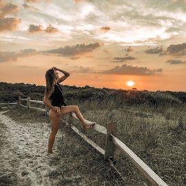 Sunset by the beach by Ewelina Barć - Instagram & Mobile iPhone