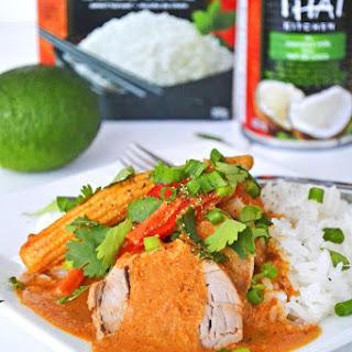 Coconut Red Curry Crockpot Pork Tenderloin.