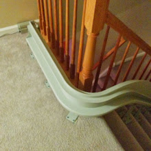 Photo: 90 Degree Curve Stairlift