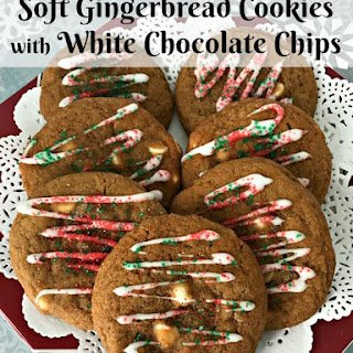 Soft Gingerbread Cookies with White Chocolate Chips Recipe