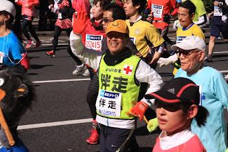 Photo: あれ、まーくんははじめさんの伴走だ。早苗さんの伴走だと思ってました。