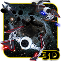 Space Ship War in Stars 3D Theme icon