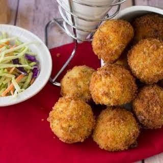 Fried Stuffed Potato Balls.