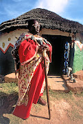 African spirituality icon Credo Mutwa in his traditional African robes and regalia. / GALLO IMAGES