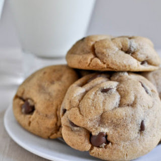 Puffy Peanut Butter Cookies with Chocolate Chips.