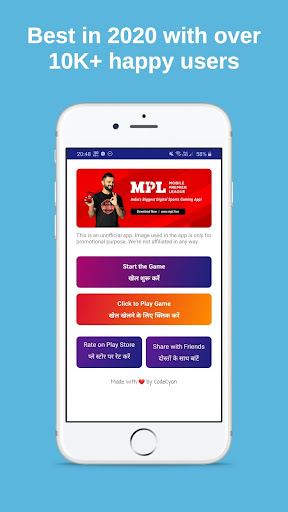 MPL Game Pro Guide App - Earn Money from MPL Pro 1.2.3 screenshots 2