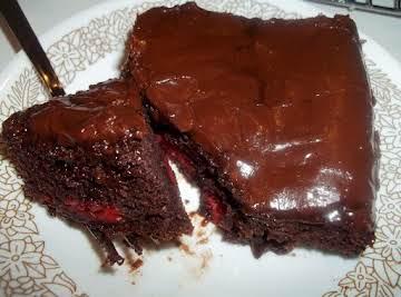 Chocolate Fudge Cherry Cake