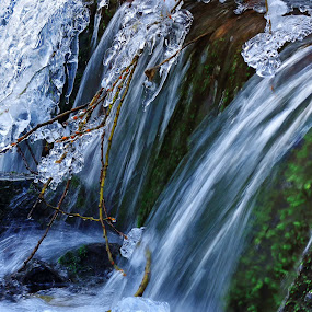 Winter cascade by Ivailo Atanasov - Nature Up Close Water ( water, plant, water drops, mountain, waterscape, waterfall, winter, cold, nature, seasons, cascade, ice, snow, river,  )
