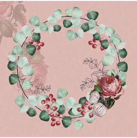 Servetter - Eucalyptuskrans, rosa
