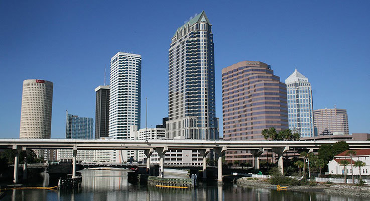 Skyscrapers in the city of Tampa, Florida