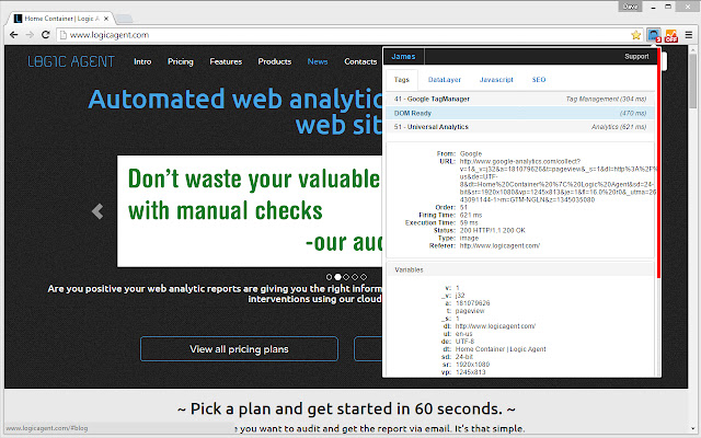 James - Analytic/SEO Auditor