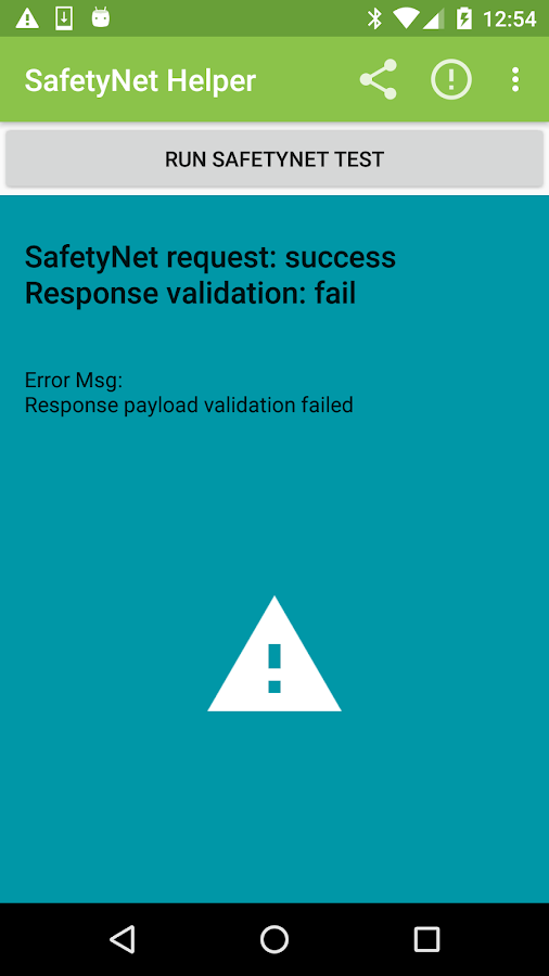 SafetyNet Helper Sample – Screenshot