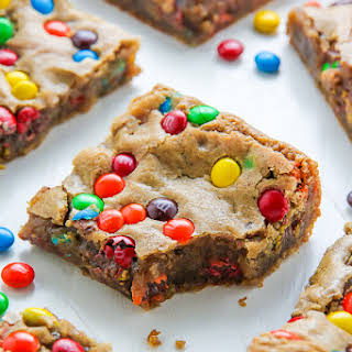 Chewy Brown Butter M&M Blondies.