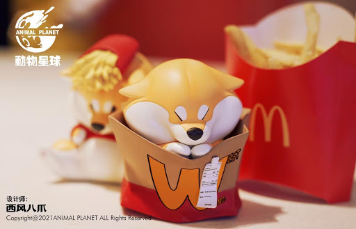 Shiba Inu fast food figurines sold in Thailand for S$29.84 each, available for pre-order in S'pore