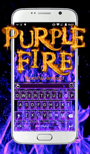 Purple Fire Keyboard Theme