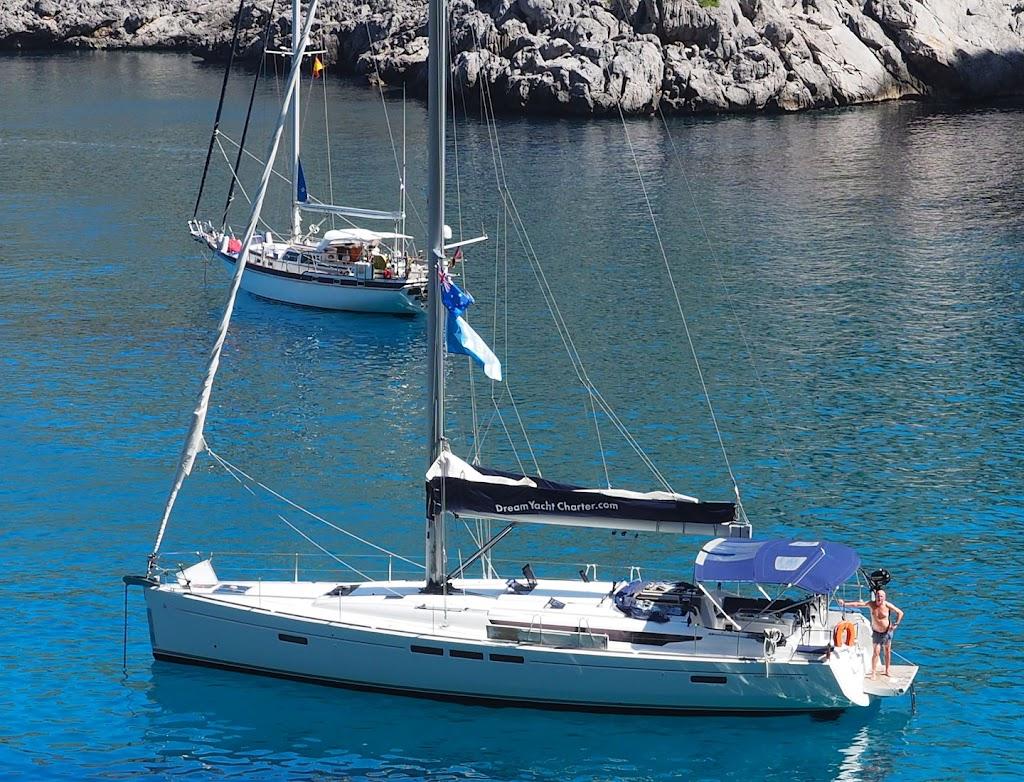a yacht anchored in soller mallorca