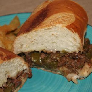 Our Family Crock Pot Philly Cheesesteak Sandwiches.