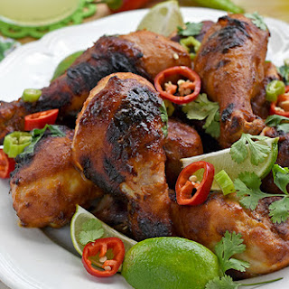 Sweet & Spicy Grilled Chicken Drumsticks.