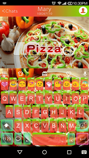 Pizza Emoji Keyboard Theme